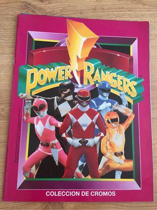 Álbum de cromos power rangers completo año 1994