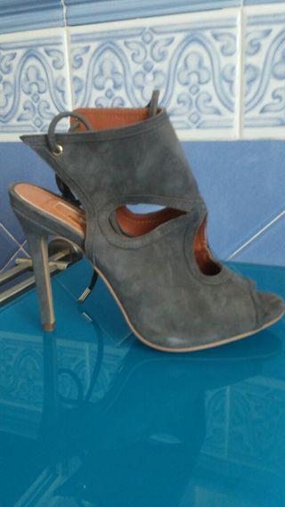 Sandalias de serraje nuevas grises