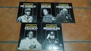 Pack de 5 libros LOS GRANDES PROTAGONISTAS DE LA II GUERRA MUNDIAL