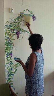 Pinto mural,decorar habitacion con dibujos pintado