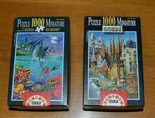 Puzzles miniatura 1000 piezas.