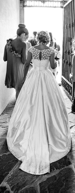 Vestido de novia seda