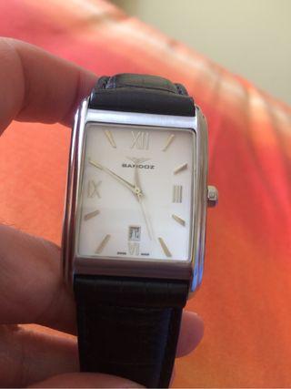 Reloj sandoz con correa negra