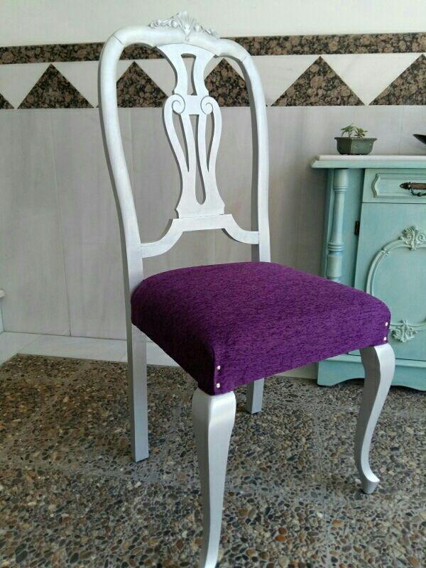 Conjunto 5 sillas isabelinas a os 60 39 s de segunda mano por - Sillas anos 60 ...