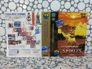 "Insert de ""Samurai Spirits"" NeoGeo AES"