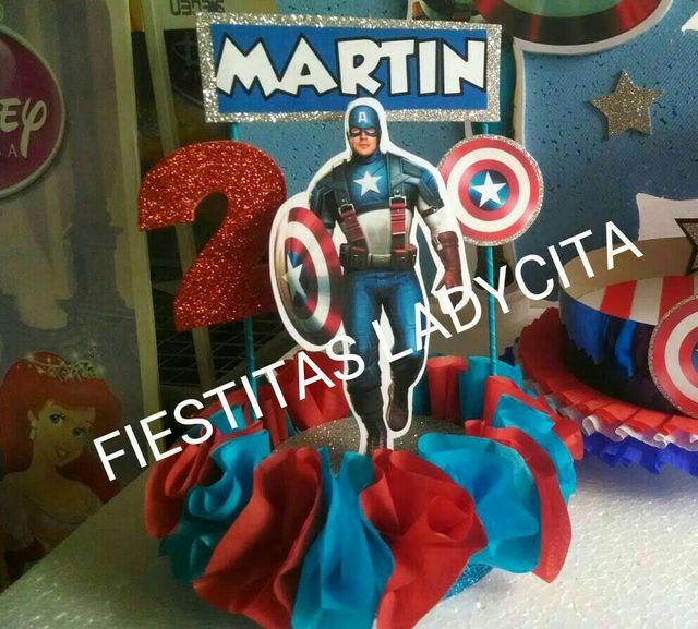Centro De Mesa Capitán América: Centro De Mesa De Capitán América De Segunda Mano En