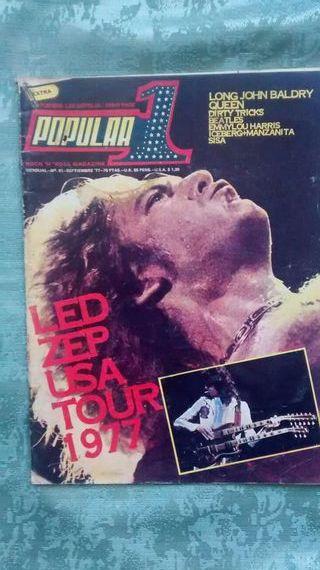 Revista popular 1 n51 - Led Zep tour 1977