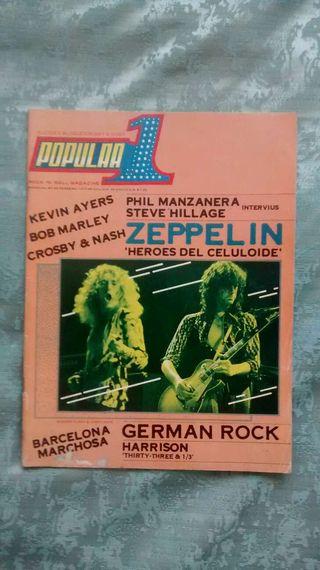 Revista Popular 1 Febrero 1977 - Led Zeppelin