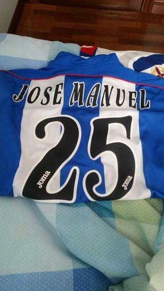 Match worn.Camiseta Deportivo de La Coruña.
