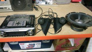 Radio CDs y Altavoces pioneer