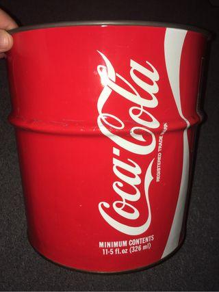 Papelera Coca-Cola de los 80