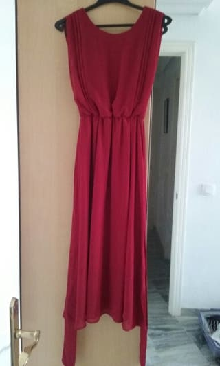 Vestido invitada rojo Tintoreto 36