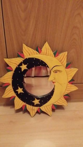 Espejo sol luna estrellas