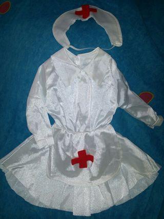 Disfraz traje vestido de enfermera bebé