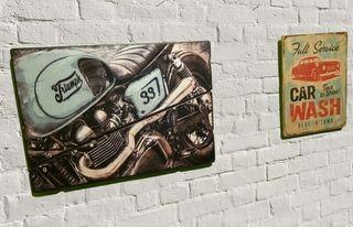 * cuadro triumph caferacer vintage rcbdesign