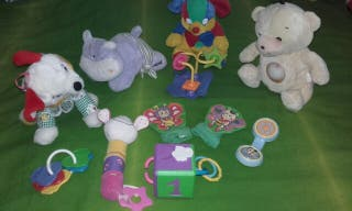 Lote Sonajeros, peluches musicales