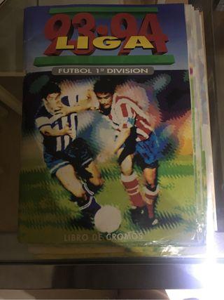 Álbum cromos Liga 93-94