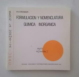 Libros de formulación química inorgánica y orgánica