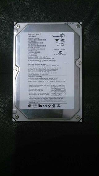 Disco duro Seagate Barracuda IDE 120 Gb