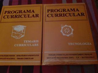 temari curricular d'ensenyament primari.educació secundària(ESO)C.F. BATXILLERAT