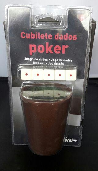 Cubilete dados poker
