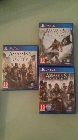 2 juegos PS4 Nuevos ASSASSIN'S