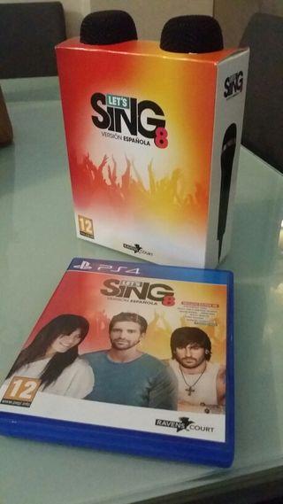 SING LET'S 8 Versión Española PS4