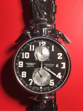 Poljot 3502 Aviator Chronograph Wings