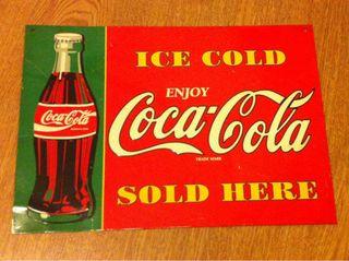 Cartel chapa publicidad COCA COLA