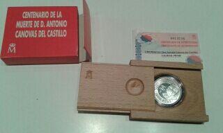 Moneda conmemorativa Canovas Plata peseta