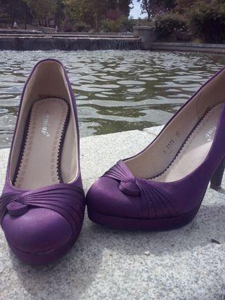 Zapatos morados Talla 37