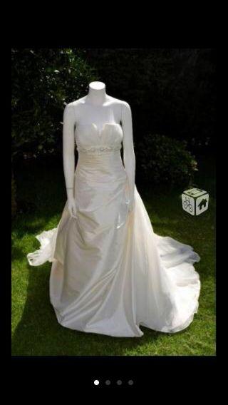 vestido de novia talla 42 de segunda mano en cáceres en wallapop