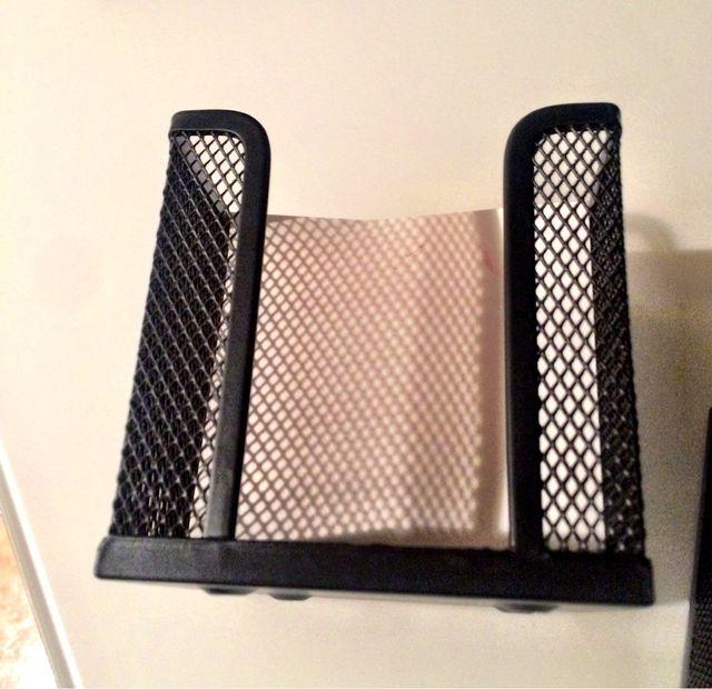 Cajas portapapeles escritorio de hierro negro