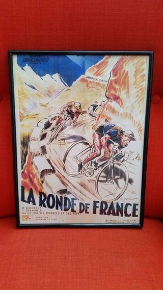 CUADRO DE CICLISMO Tour de francia