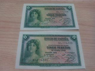 Pareja 5 pesetas 1935