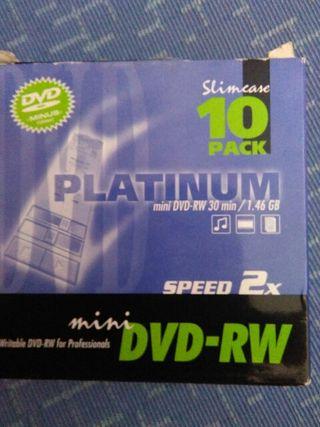 MiniDVD-RW 30 min.sin usar