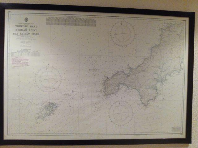 Carta náutica islas de sicilia, enmarcada y acristalada de segunda ...