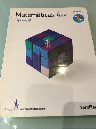 Libro de texto. Libro de matemáticas cuarto de eso