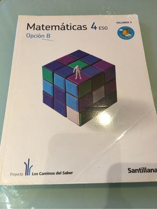 Libro de matemáticas. Libro de texto. Cuarto de eso