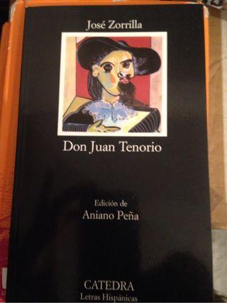Libro de lectura Don Juan Tenorio