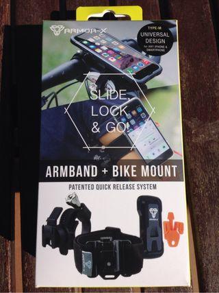Soporte para bicicleta y brazo para smartphone