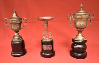 Lote de tres copas de los años 50-60
