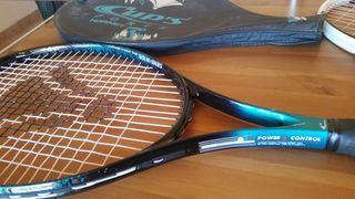 Pack de 2 raquetas y 9 pelotas de tenis