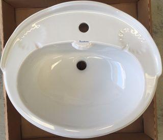 Lavabo encastre retro blanco Sanitana