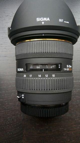 Objetivo Sigma 10 20 4 5.6 para Canon