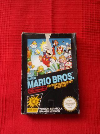 Juego super mario bros Nintendo NES