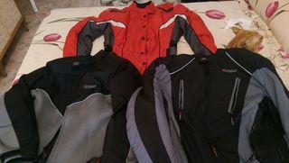 3 chaquetas de moto