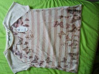 "Camiseta ""edc"" rosa palo. Nueva, con etiqueta."