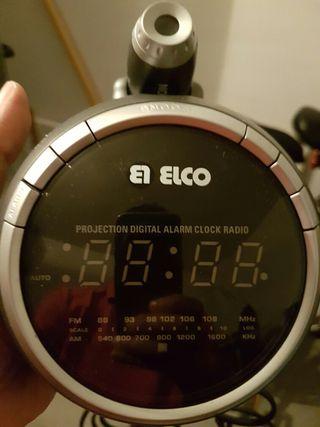 Reloj despertador proyector de hora