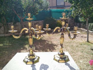 Candelabros de bronce